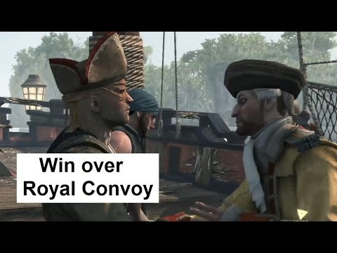 AC4 Naval Battle First Win Over Royal Convoy. Jackdaw Upgrades. Assassin's Creed 4 Black Flag