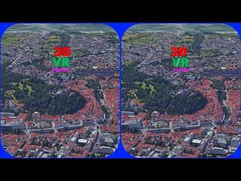 Slovenia Ljubljana Castle 3D VR Stereogram Magic Eye, 3D SBS, Google Earth, 매직아이