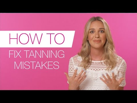 How-to fix fake tan mistakes | Tanning tutorial