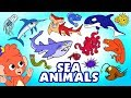 Scary Sea Animals for Kids | Learn Scary Ocean animals names cartoon | Club Baboo