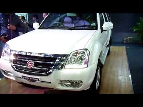 Force Motors Force One White SUV 4x2 6D at Auto Expo 2012, New Delhi, India