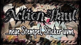 Action Haul (deutsch), neue Stempel, Sticker uvm., Scrapbook basteln mit Papier, DIY