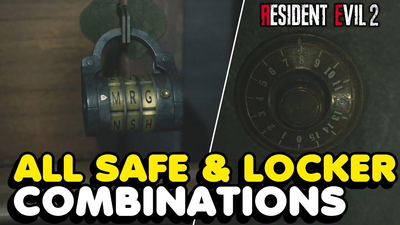 re2 remake safe and locker codes