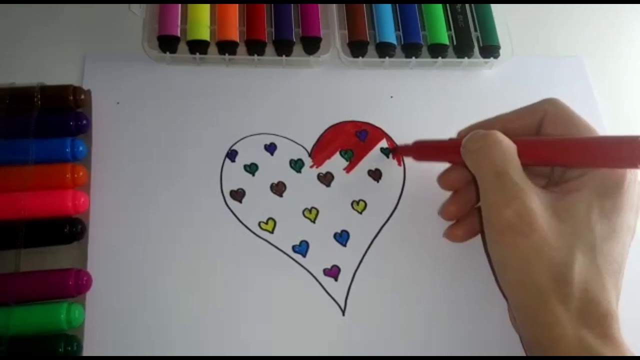 Kalp Boyama Sayfaları çocuklar Için Boyama Nasıl çizilirrenkleri