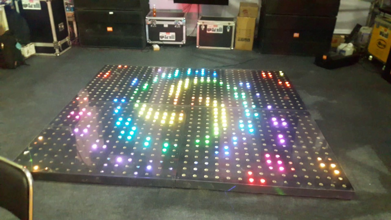 Mintu Electronics And Qd Lights Led Dance Floor Pare In Indian Dj Expo 2017