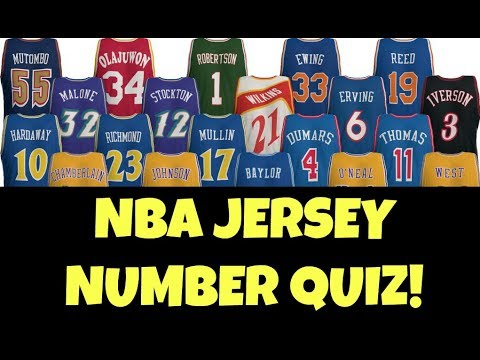 NBA JERSEY NUMBER TRIVIA QUIZ | Guess These NBA Players Jersey Number