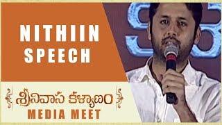 Nithiin Speech Srinivasa Kalyanam Media Meet Nithiin, Raashi Khanna