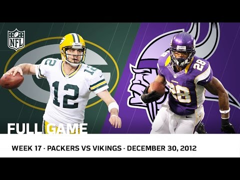 """Adrian Peterson Goes Over 2000"" Packers vs. Vikings (Week 17, 2012  FULL GAME) 