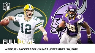 Adrian Peterson Goes Over 2000 Packers vs. Vikings (Week 17, 2012 FULL GAME) | NFL