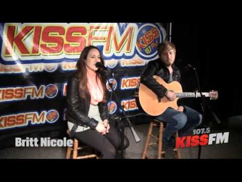 Britt Nicole in the 1075 KISS Lounge