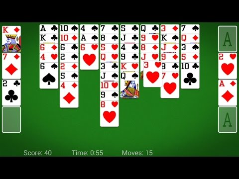 FreeCell Solitaire (by MobilityWare) - Card Game For Android And IOS - Gameplay.