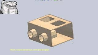 """Cajón para 2 Kicker L5 15"""" entonada a 29 Hz (Bulldog-Box Level 4)"""