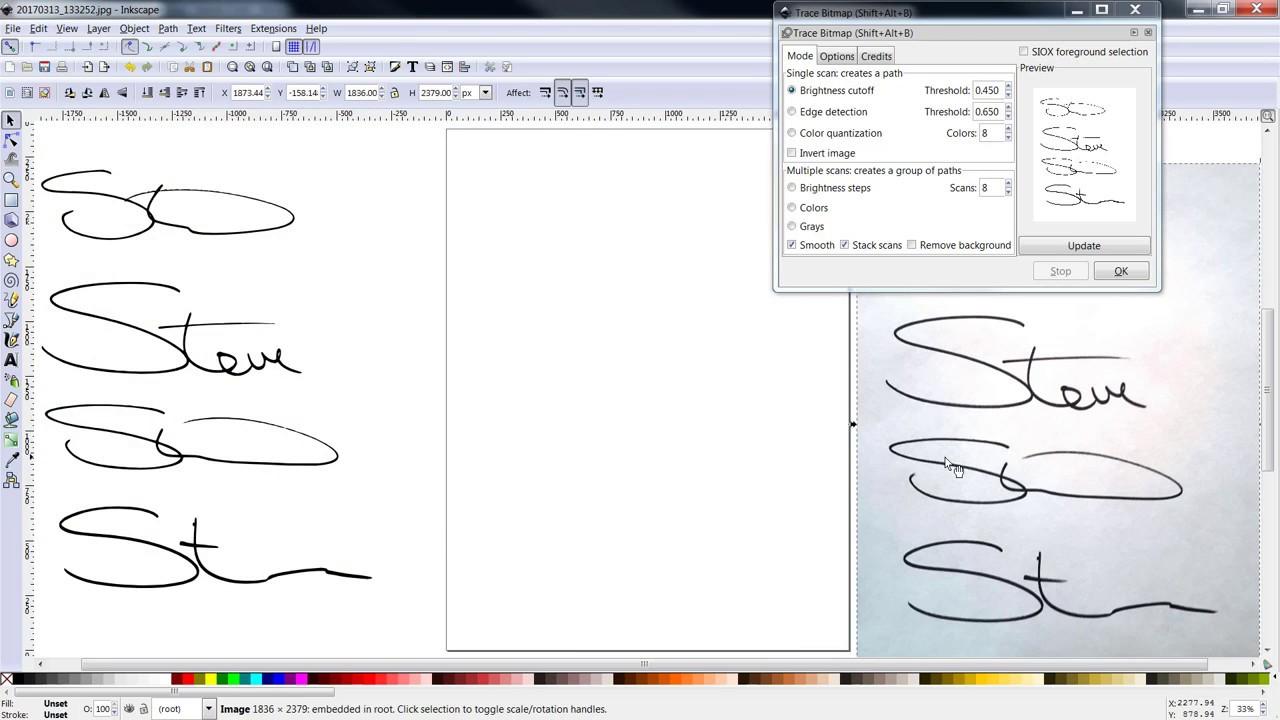 Vcarve Pro digital Signature Creation - YouTube