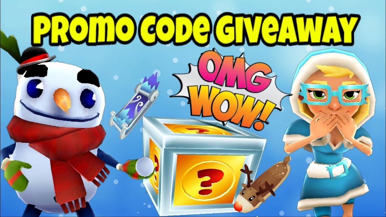 Subway Surfers Free Promo Code Giveaway Frozen Pack Marco