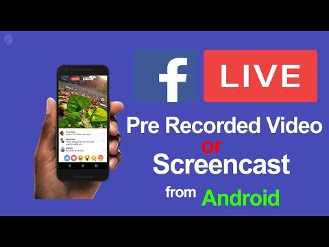 How To Live Broadcast Pre Recorded Video On Facebook Page, Profile & Group In Andriod