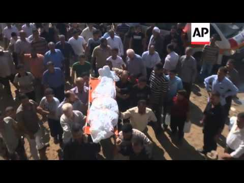 Funerals for two alleged militants killed in separate Gaza airstrikes
