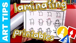Art Tips - Laminating Your Printables