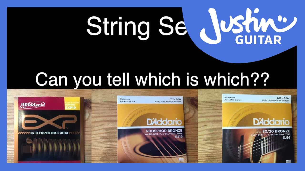 Acoustic Guitar String Shootout Coated Vs Phosphor Bronze Vs 80 20 D Addario Youtube