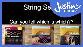 Acoustic Guitar String Shootout: Coated v Bronze 80/20 v Phosphor Bronze - D