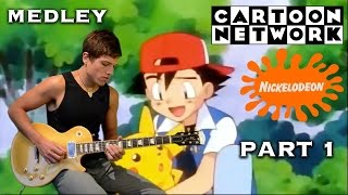Epic Cartoon Network Nickelodeon 90`s Rock Medley theme - Lea Tamola (Part 1)