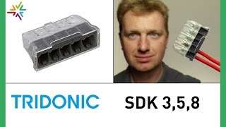 Dosenklemme TRIDONIC SDK 3, 5, 8 statt WAGO 273-101 [watt24-Video Nr. 112]