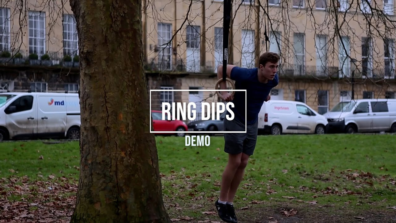 Ring dips - the squats for the upper body