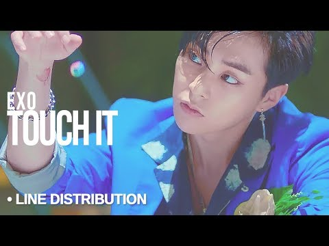 EXO (엑소) - Touch It : Line Distribution (Color Coded)