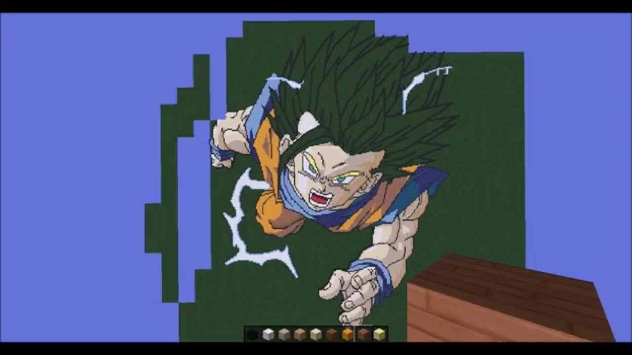 Minecraft Previa Da Pixel Art Do Gohan Youtube