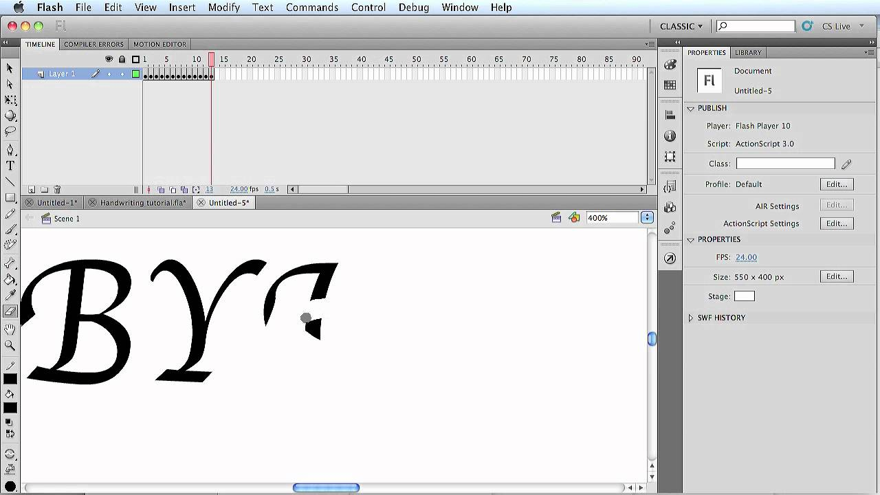 How To Animate Text With Adobe Flash