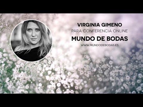 Virginia Gimeno en la primera conferencia online para novias
