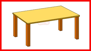 How to Draw a Table Step by Step  - Easy Drawing for Kids