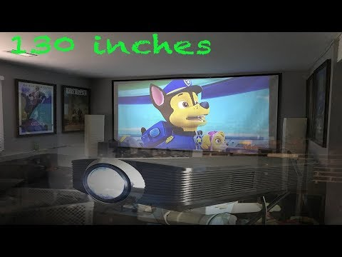 130 inch Projector Set up for under $200.00