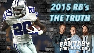 The TRUTH About Fantasy RBs in 2015, Part 2 Ep. #173 - The Fantasy Footballers