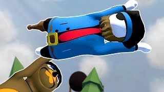 GET HURLED DEATH RUN! - Human Fall Flat Gameplay & Funny Moments