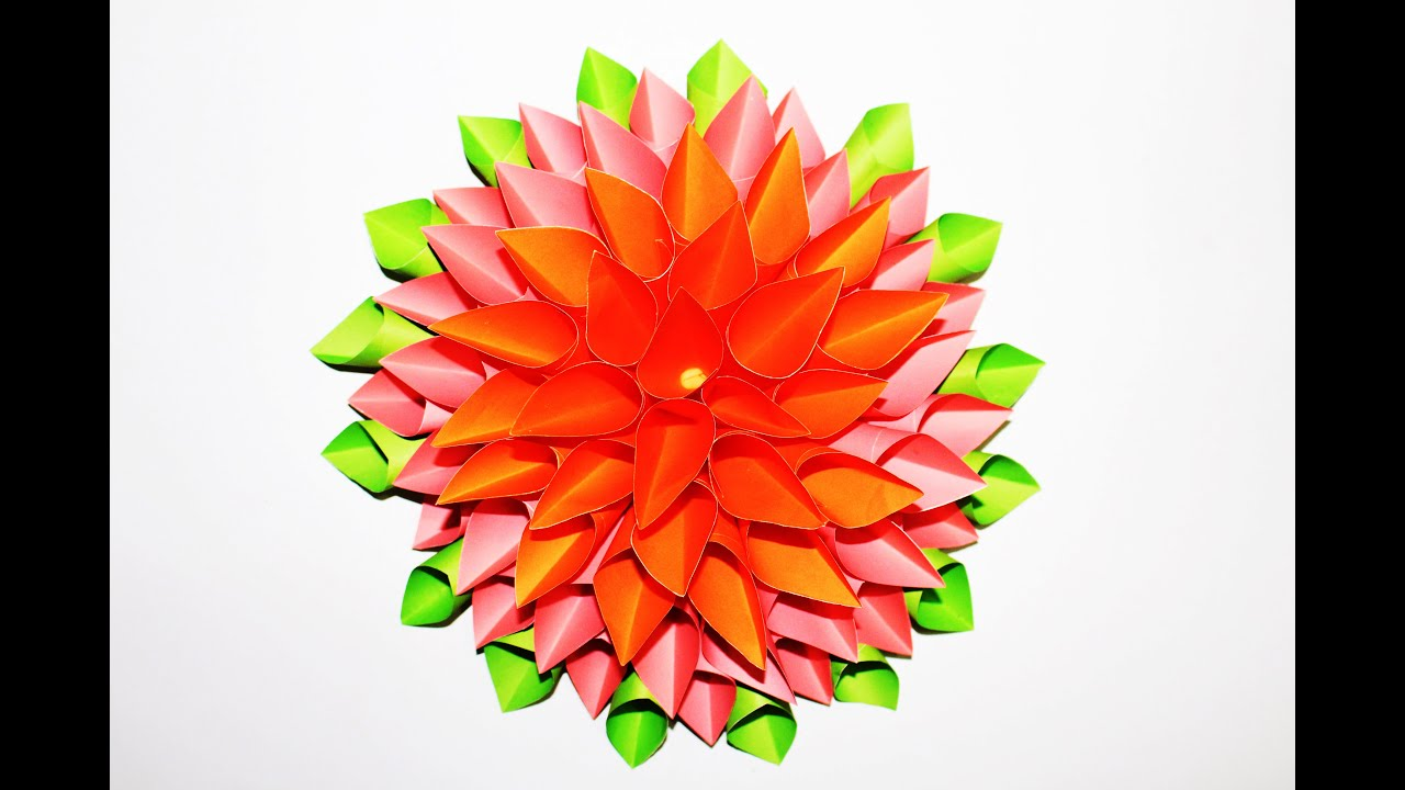 How to make a beautiful flower out of paper easy step by step how to make a beautiful flower out of paper easy step by step tutorial youtube mightylinksfo Images