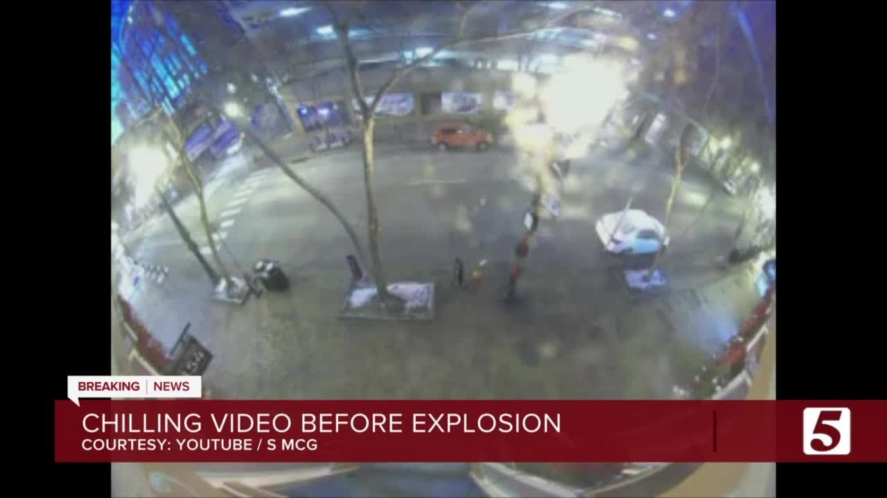 Surveillance video shows moments leading up to explosion in downtown Nashville