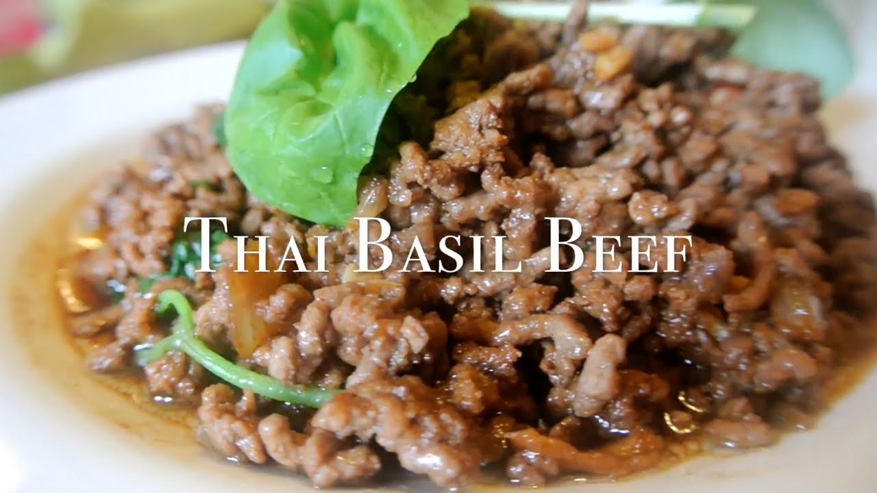 How to cook thai basil beef easy home recipe youtube forumfinder Images