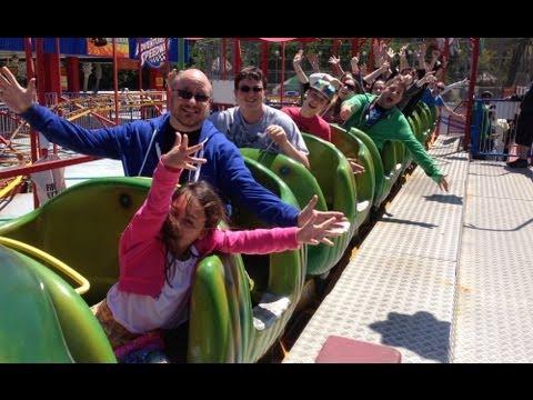 Wacky Worm Roller Coaster POV Adventure Landing Jacksonville
