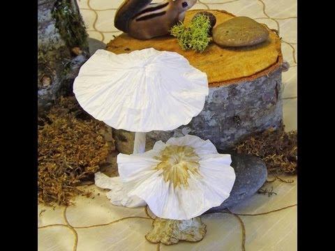 Tissue Paper Mushroom Craft. Atesanato de Papel (Cogumelo).