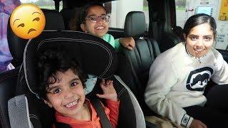 الى نيويورك بالسيارة وشكلنا بنوصل بعد سنه