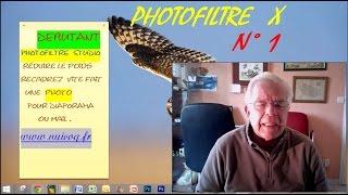 TUTO PHOTOFILTRE X OU 7, REDUIRE LE POIDS D UNE PHOTO  ET RECADRER EN FRANCAIS