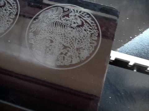 Jq Laser Engraving Cutting Machine Ceramic Tile 1 Youtube