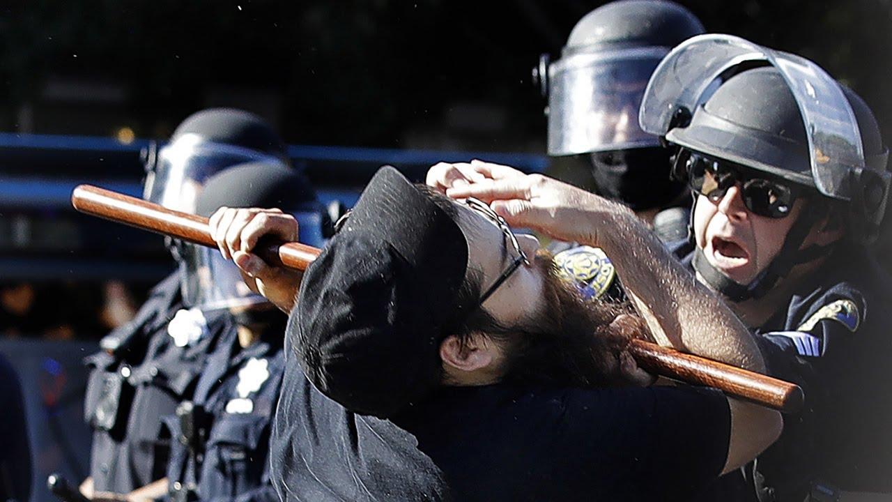 George Floyd protest: Police use police flashbang grenades, tear gas, rubber bullets