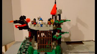vintage lego 6082 fire breathing fortress stop motion build review