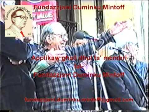 Duminku Mintoff il Belt Valletta imwegga
