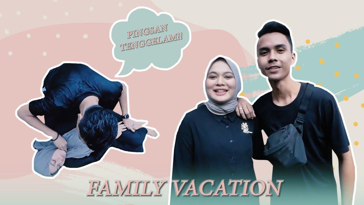 Yeay Liburan keluarga | Anisa Tenggelam Di Kolam, Hussein Panik!!