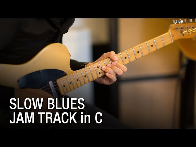 Slow Blues in C Backing Track For Guitar 62 bpm