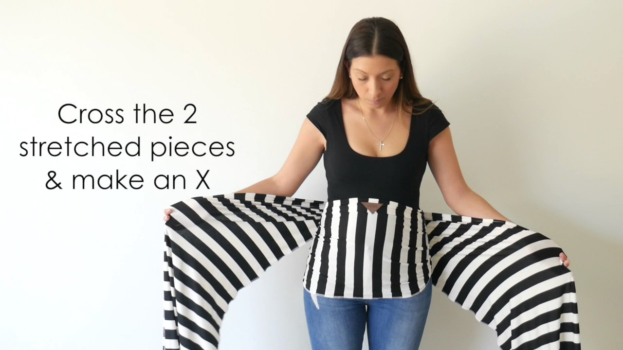 How To Put Your Vixsa Baby Wrap Carrier On Youtube