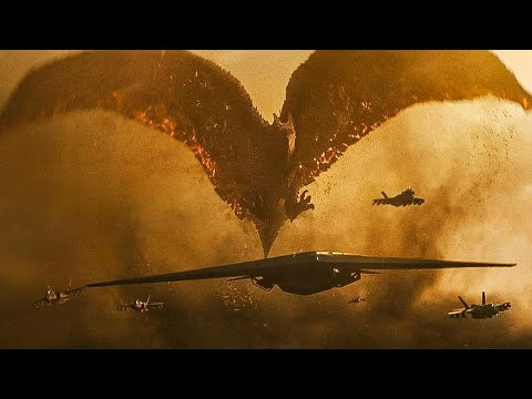 Download Rodan Vs Jets and  King Ghidorah Scene - Godzilla: King of the Monsters 2019