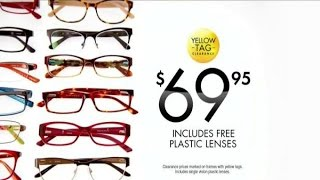 tv commercial spot visionworks fashion frames yellow tag sale your best face find